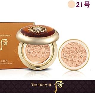 【フー/ The history of whoo] Whoo后 Hwahyuon Luxury Cushion /后(フー)よりヒストリー?オブ?後チョンギダン高級化現象の本質クッション(本品1個+リフィル1個)+[Sample Gift](海外直送品) (21号)