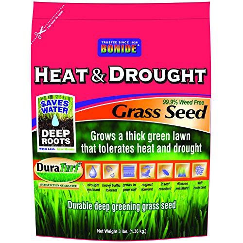 Bonide 60251 Heat and Drought Grass Seed, 3-Pound