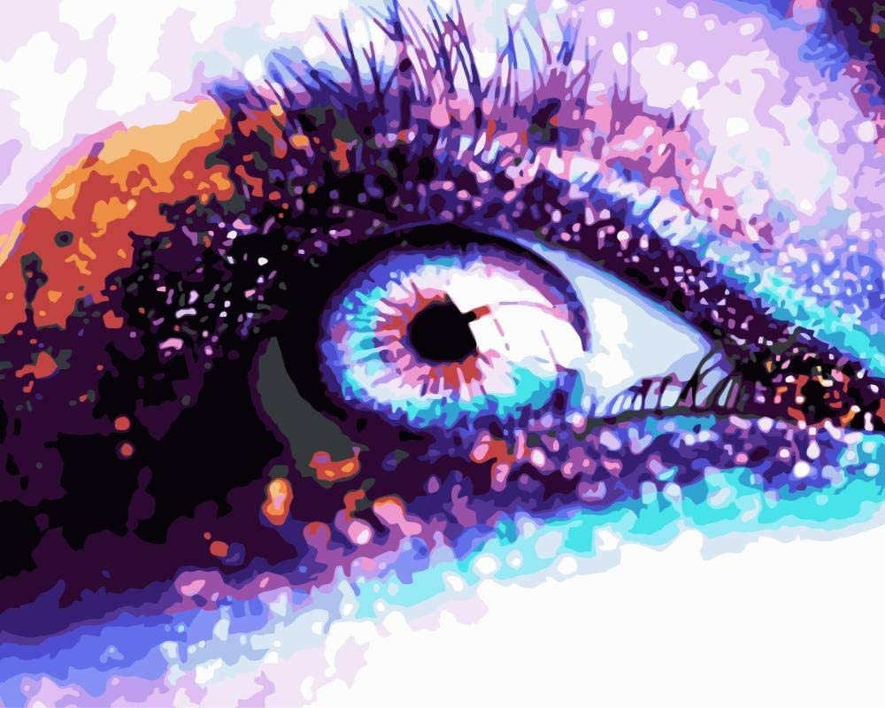 Max 74% OFF Popular product HRKDHBS DIY Painting by Number Kits Beautiful Adult Eye O Canvas