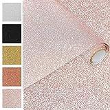 DecoMeister Klebefolien Deko-Folien Selbstklebefolie Möbelfolie Selbstklebend Glitzernd Einfarbig Einheitliche Glitter-Farbe 45x150 cm Glitzer Rosa