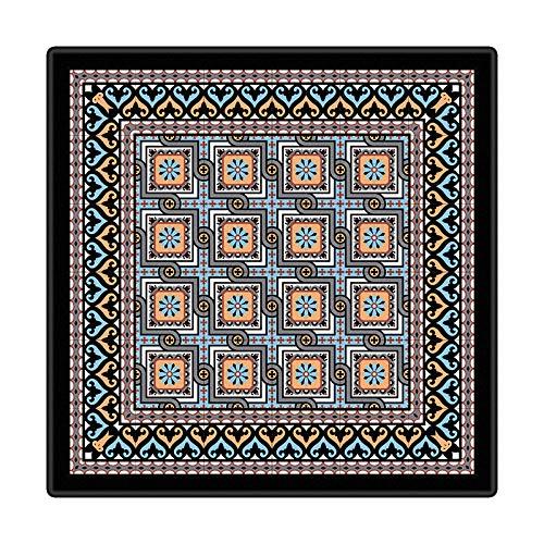 Alfombra Moderna para Salón, Figuras Geométricas Gris Azul Negro, Alfombra De Salón Moderna, Alfombras Mullidas de Interior Súper Suaves y Mullidas para Salón Dormitorio, 60 x 90 cm
