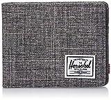 Herschel unisex adult Roy Rfid Bi Fold Wallet, Raven Crosshatch, One Size US