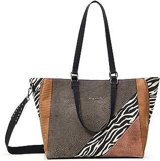 Desigual Womens BOLS_Mona MARSELLA Shopping Bag, Brown, One Size