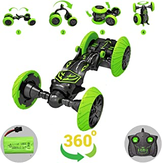 Rc Stunt Cars Remote Control Car, 360 Degree Rotating Drift Stunt Car 4WD High Speed Rc Toy Car Rc Deformed Crawler Vehicle Toy 2.4Ghz Radio Control Truck Racing Car for Kids Boys & Girls