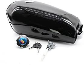 Universal 2.4Gallon 9L Motorcycle Fuel Gas Tank Set Fuel Tank +Cap Switch+Fuel Tank Cover+2 x Keys