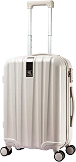 Hardside Luggage Suitcase - 20 Inch Spinner Luggage Suitcases with TSA Lock Lightweight Carry-On Luggage Trolley Case, Ivory white