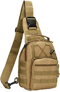 Tactical Bag, Single Shoulder Messenger Bag, Chest Bag, Casual Office Tactical Satchel, Small Tool Backpak, Bag Which is Suitable for Carrying ipad, Smart Phone, Wallet and Daily Necessities