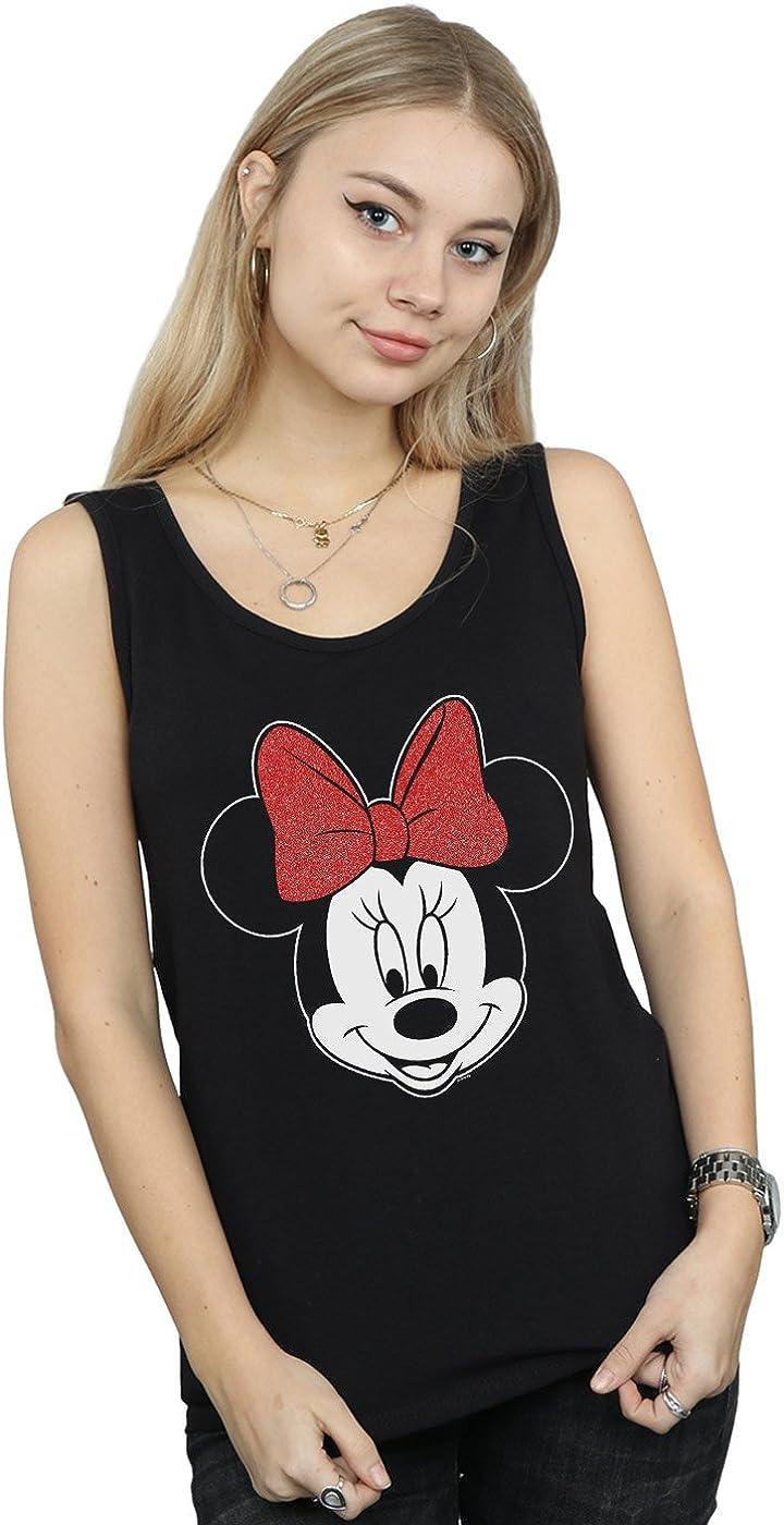 Disney Women's Minnie Mouse Head Tank Top