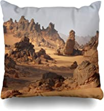WAYATO Pillow Case Cotton Polyester Blend Throw Pillow Covers Adventure Colorful Cup Desert Landscape Sea Steam Bed Home Decor Cushion Cover 18 x 18 Inch