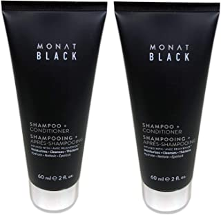 Black 2 in 1 Shampoo + Conditioner NEW TESTER by Monat, 2 Pack