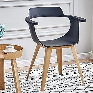 QFWM Sillas de Comedor Inicio Silla Moderna Simple Silla de Comedor for la Sala de Estar y Comedor Cocina Comedor Muebles (Color : Black, Size : 50x77x44cm)