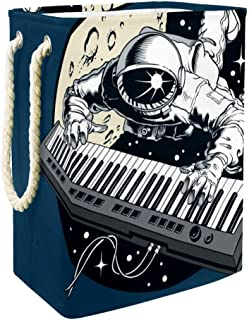 Vockgeng Panier de Rangement pour la Maison Astronaut Piano Space Panier de Rangement imperméable Pliable de Jouets de Jou...