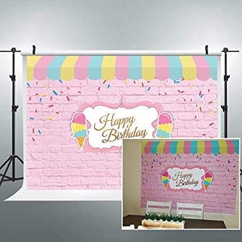 8x12 FT Ice Cream Vinyl Photography Background Backdrops,Modern I Love Ice Cream Quote Fantasy Dream Land for Girls Boys Graphic Background for Selfie Birthday Party Pictures Photo Booth Shoot