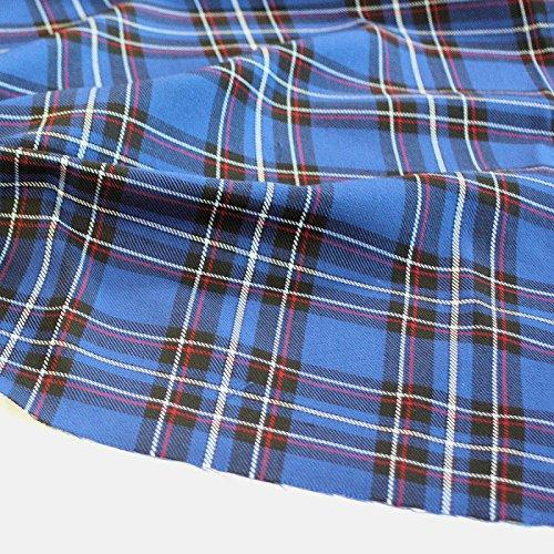 Tartan Schotten-Karo Stoff für Kilt, Kostüme als Meterware am Stück (Royal-Blau)