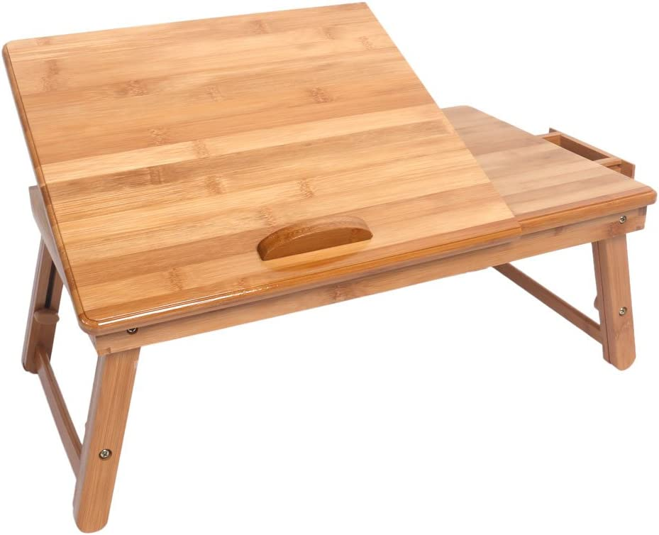 Qao Bamboo Laptop Desk 激安通販販売 Serving 期間限定特価品 Portable Multifunctional Bed