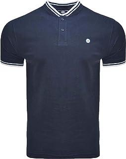 Lambretta Mens Vintage Baseball Regular Fit Short Sleeve Polo Shirt - Navy - 3XL