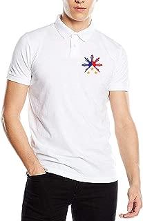 Camiseta de Manga Corta con Estampado de Bandera Filipina Sun and Stars de Filipinas para Hombre