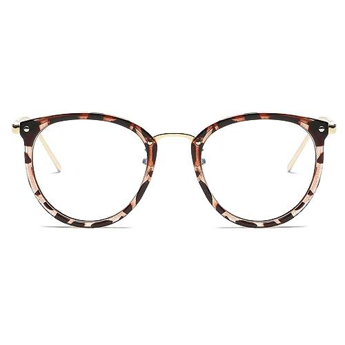 21aea92c4 Amomoma Fashion Round Eyewear Frame Eyeglasses Optical Frame Clear Lens  Glasses AM5001