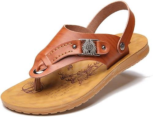 EGS-chaussures Pantoufles en Cuir Cuir Cuir Microfibre for Hommes Chaussures de Cricket (Couleur   marron, Taille   41 EU) dfb