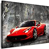 Myartstyle - Bilder Auto Ferrari 60 x 40 cm Leinwandbilder