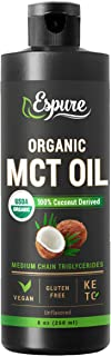 Espure Organic MCT Oil - USDA Certified -100% Pure MCTs Extracted from Certified Organic Coconuts; 8 oz