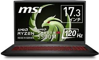 【AMD Ryzen7搭載】MSIゲーミングノートPC Bravo17 Ryzen7 Radeon RX5500M/17.3FHD/16GB/SSD256GB/Bravo-17-A4DDR-010JP