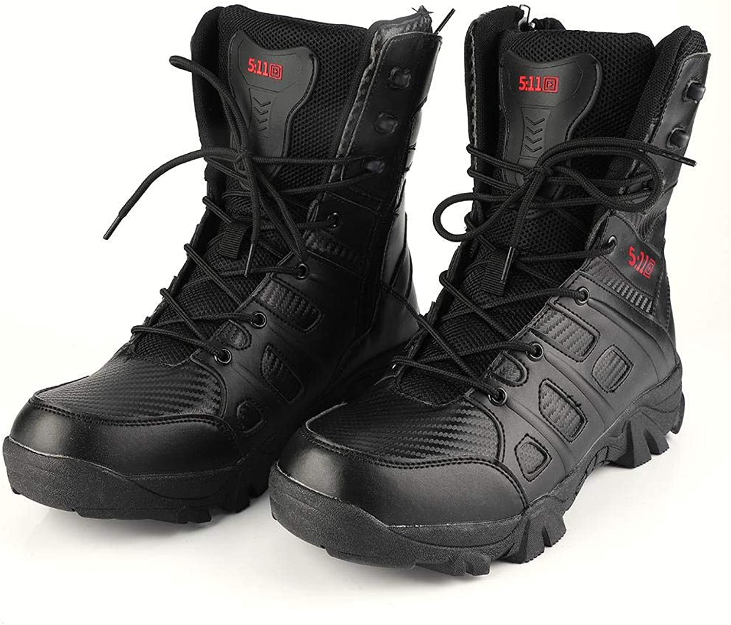 Military Army Boots, Men Hightop Outdoor shoes Assault Combat Boot for Climbing Trekking Hiking shoes Lace Up Army Footwear