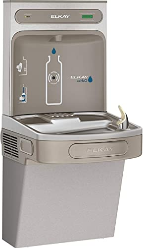Elkay LZS8WSLK EZH2O Bottle Filling Station with Single ADA Cooler, Filtered, 8 GPH, Light Gray