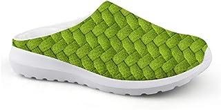 Pantuflas de Color Verde, Unisex, para Adultos, para el Tiempo Libre, de Malla