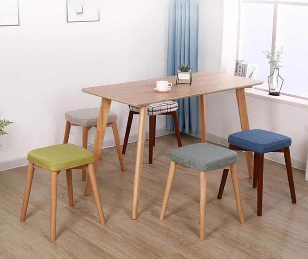 Langlin Creative Maison carrée en Bois Massif Tabouret Moderne Siège Chaise Repose-Pieds Adulte Table à Manger Tabouret pour Cuisine Salon Chambre,E A