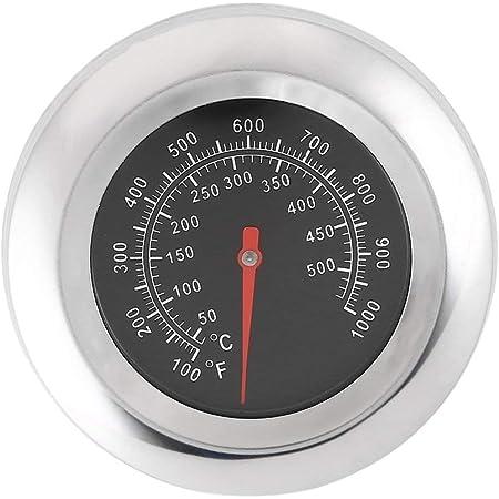 Liobaba Medidor de Temperatura del termómetro de la Parrilla del asador de la Barbacoa del Acero Inoxidable 3G