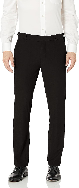 supreme Van Max 90% OFF Heusen Men's Slim Fit Dress Flat Flex Pant Front