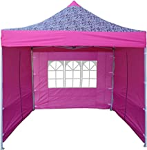 DELTA Canopies 10'x10' Ez Pop up Canopy Party Tent Instant Gazebo 100% Waterproof Top with 4 Removable Pink Zebra - E Model