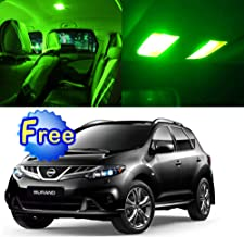 SCITOO 13Pcs Green Interior LED Light Package Kit Replacement Bulbs Fits for Nissan Murano 2003-2008