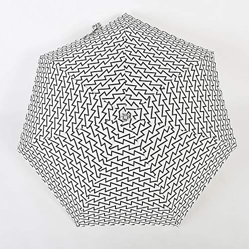 GJYWHF Parasol Petit Sac Parapluie Compact pour Femme Fille Coupe-Vent