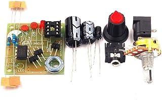Heaviesk LM386 Super Mini 3V-12V Amplificador de Potencia Juego de Traje Kit Kit Electrónico DIY Amplificador de Audio Módulo de Bajo Consumo