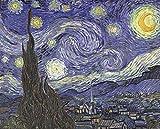 Diy Pintura Diamante Noche Estrellada De Van Gogh Taladro Completo Kit De Punto De Cruz Diamante Kits De Pintura Para Adultos Rhinestone Bordado Arte 40 * 50Cm