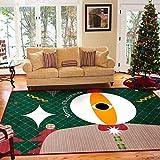 Michance Estilo Europeo Simple Navidad Antideslizante Alfombra Decorativa para El Piso Impresión Lavable Mesa De Café Sofá Cojín Sala De Estar Dormitorio Hotel Casa De Huéspedes Alfombra