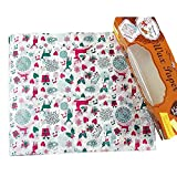 Christmas Candy Wrappers Tray Paper Wax Paper Greaseproof Baking Hamburger Paper, 50Pieces