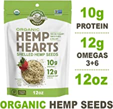 Manitoba Harvest Organic Hemp Hearts Raw Shelled Hemp Seeds, 12 Ounce (Pack of 1); with 10g Protein & Omegas per Serving, Non-GMO, Gluten Free