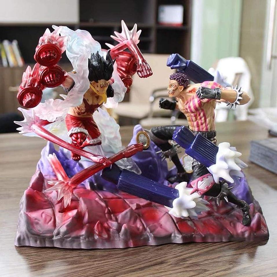 気を散らす宿泊施設流体ルフィ&シャーロットカタクリ、アニメワンピースモデル、子供のおもちゃコレクション像、デスクトップ装飾玩具像玩具モデルPVC(26cm) JSFQ