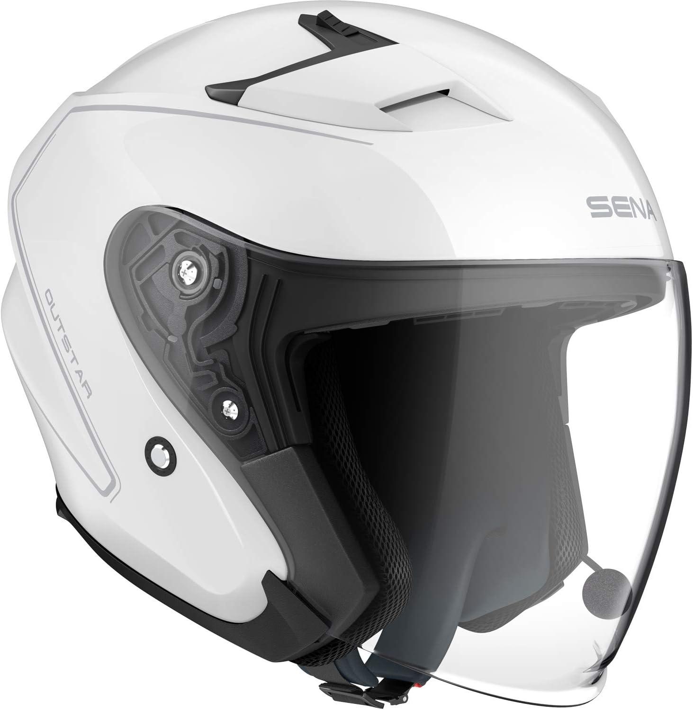 Sena Outstar Open Face Smart Helmet (Blanco, XL)