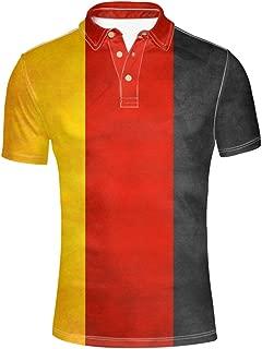 HUGS IDEA Fashion Men's Pique Polos Shirt Short Sleeve
