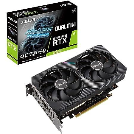 ASUSTek DUAL NVIDIA GeForce RTX 3060 Ti 搭載ビデオカード OC / PCIe 4.0 / 8GB GDDR6 / HDMI 2.1 / DisplayPort 1.4a / 2スロット設計 / Axial-techファン設計 / DUAL-RTX3060TI-O8G-MINI-V2
