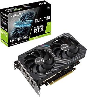 ASUSTek DUAL NVIDIA GeForce RTX 3060 Ti 搭載ビデオカード OC / PCIe 4.0 / 8GB GDDR6 / HDMI 2.1 / DisplayPort 1.4a / 2スロット設計 / Axia...