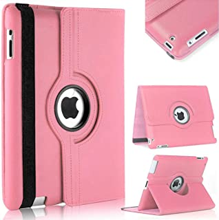Vultic iPad Pro 12.9 Case - 360 Degree Rotating Stand [Auto Sleep/Wake] Folio Leather Smart Cover Case for Apple iPad Pro 12.9 inch [2nd Gen 2017] & [1st Gen 2015] (Light Pink)