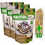 Xilitol 100% Natural 3Kg Azucar de Abedul de Finlandia + 10 sobres Regalo de Nuevo Edulcorante Moreno DULCILIGHT el sabor natural del azucar.