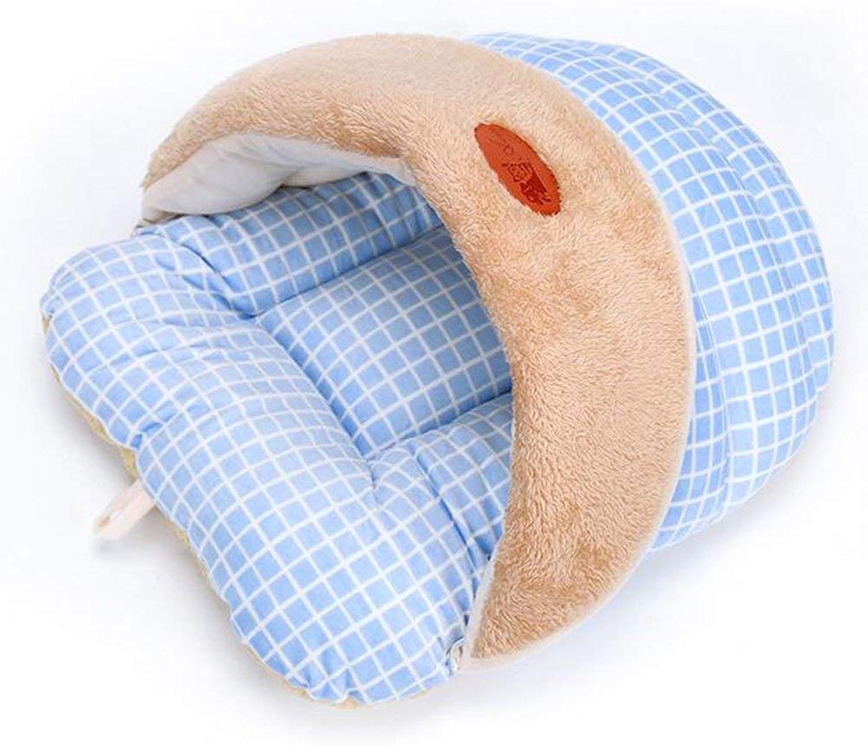 Pet Sofa Slipper Doghouse Pet Sleeping Bag Cat Litter Mat Pet Supplies (Colore: Sky Blue, Dimensione: Medium)