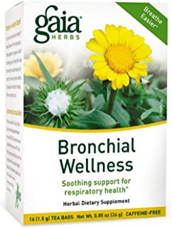 Gaia Herbs Bronchial Wellness Herbal Tea, 16 Tea Bags – Soothing Support, Promotes..