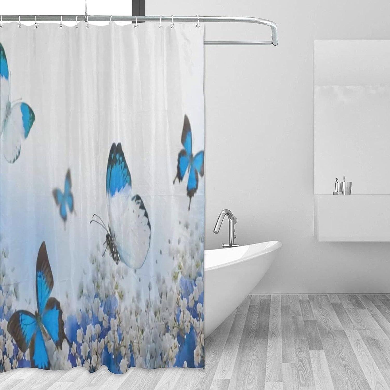 ~ Flower Butterfly Bathroom Shower quality assurance X 72